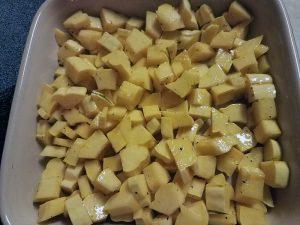 Chopped delicata squash