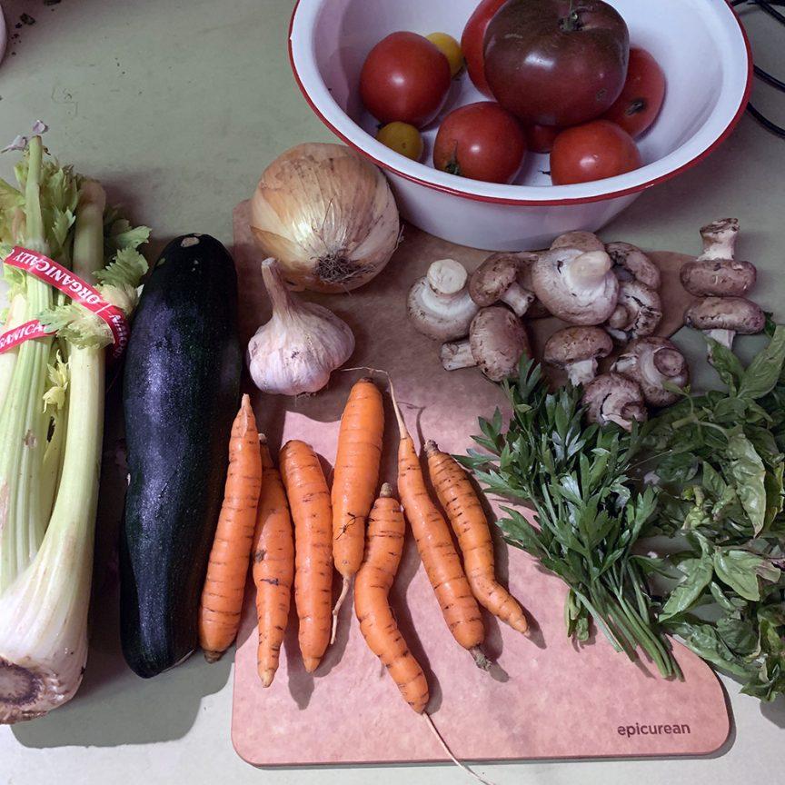 Veggies for soup
